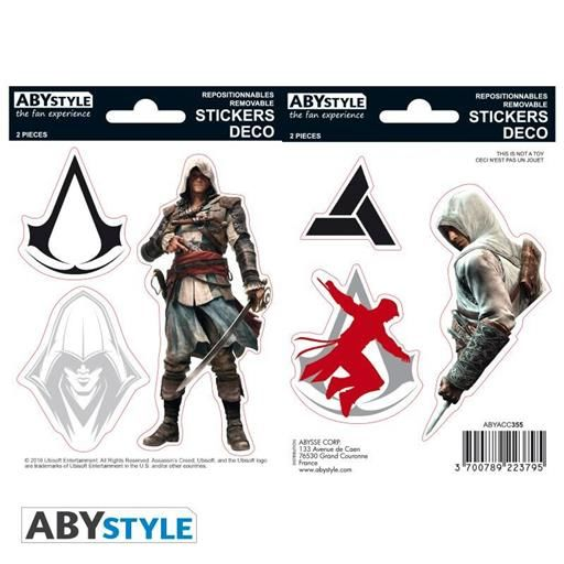 ASSASSIN S CREED STICKERS 16 x 11 CM EDWARD / ALTAIR
