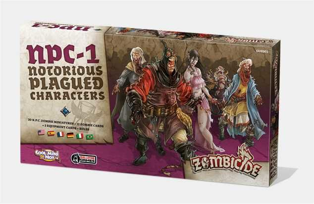 ZOMBICIDE: BLACK PLAGUE. NOTORIOUS PLAGUED CHARACTERS #1