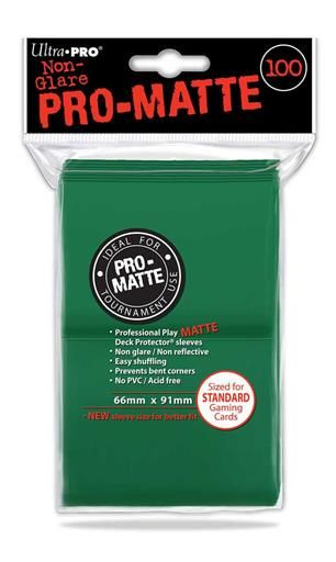 DECK PROTECTOR PRO-MATTE (100) GREEN 66X91 MM