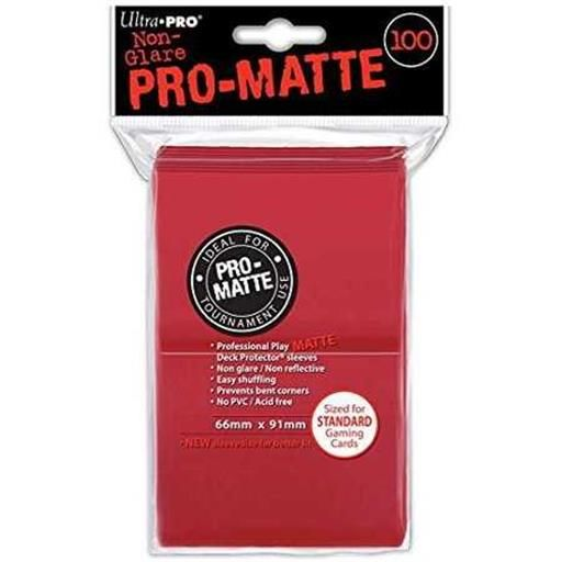 DECK PROTECTOR PRO-MATTE (100) RED 66X91 MM