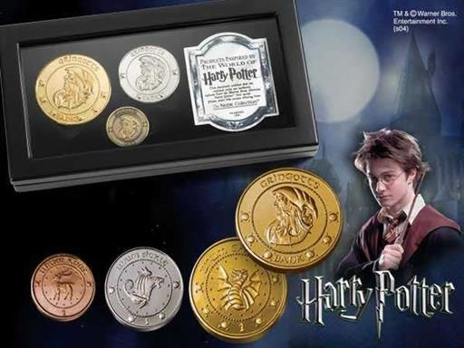 HARRY POTTER COLECCION DE MONEDAS DEL BANCO GRINGOTTS