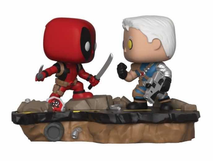 DEADPOOL VS CABLE 2 PACK FIG 10 CM VINYL POP MOVIE MOMENTS MARVEL
