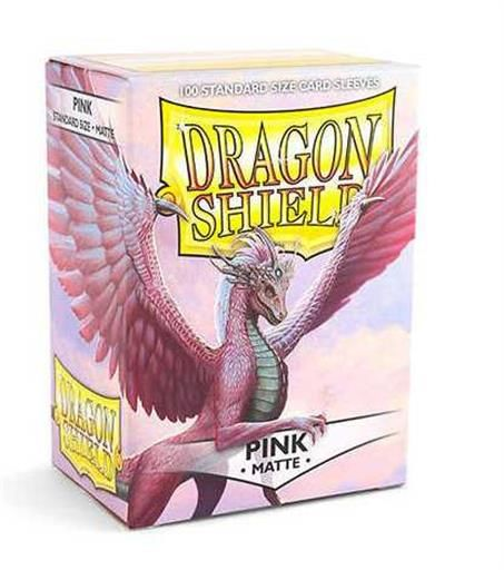 FUNDAS CARTAS DRAGON SHIELD ESTANDAR MATTE-ROSA (100)