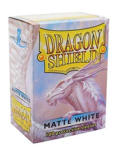 FUNDAS CARTAS DRAGON SHIELD ESTANDAR MATTE-BLANCO (100)