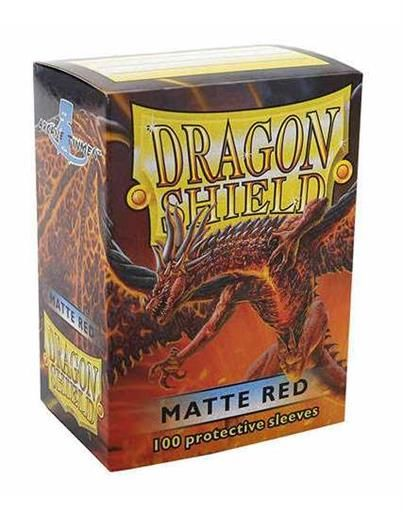FUNDAS CARTAS DRAGON SHIELD ESTANDAR MATTE-ROJO (100)