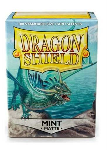 FUNDAS CARTAS DRAGON SHIELD ESTANDAR MATTE-MINT (100)