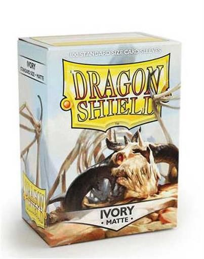 FUNDAS CARTAS DRAGON SHIELD ESTANDAR MATTE-IVORY (100)