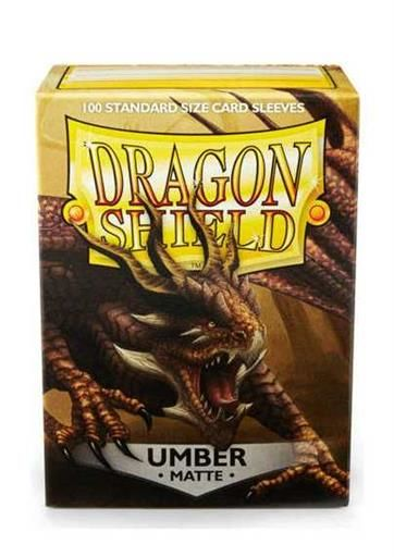 FUNDAS CARTAS DRAGON SHIELD ESTANDAR MATTE-UMBER (100)
