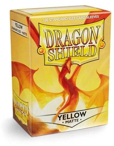 FUNDAS CARTAS DRAGON SHIELD ESTANDAR MATTE-YELLOW (100)