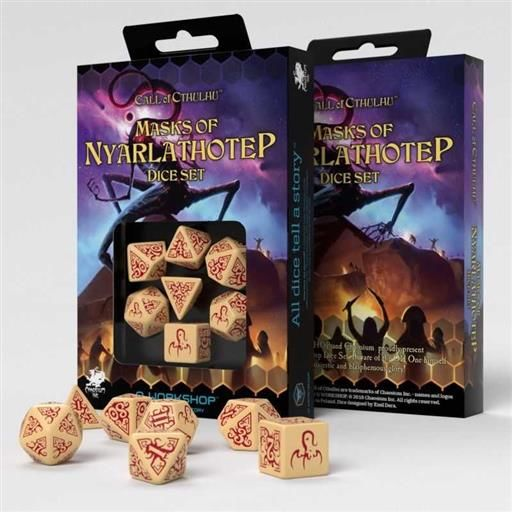 DADOS Q-WORKSHOP CALL OF CTHULHU MASKS OF NYARLATHOTEP