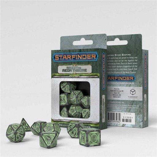 DADOS Q-WORKSHOP SET DE 7 STARFINDER AGAINST THE AEON