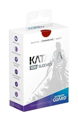 ULTIMATE GUARD KATANA SLEEVES FUNDAS CARTAS ESTANDAR ROJO (100) 66X91