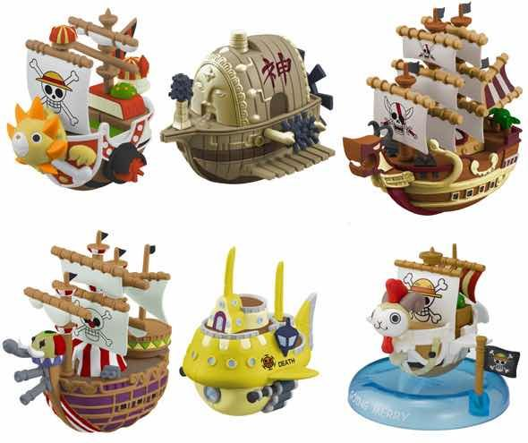 DISPLAY BARCO PIRATA 6 FIGURAS ONE PIECE YURAYURA COLLECTION 3