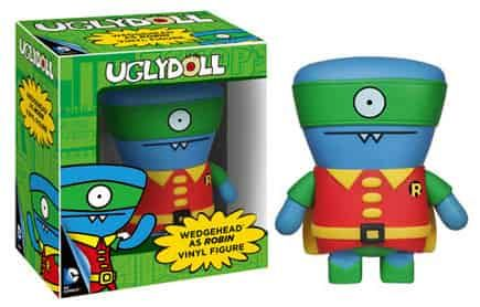 WEDGEHEAD/ ROBINVINYL UGLY DOLL DC COMICS FIG 12CM