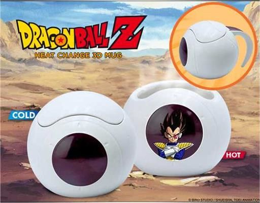 DRAGON BALL Z TAZA 3D SENSITIVA AL CALOR VEGETA SPACESHIP