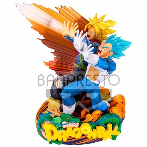 DRAGON BALL SUPER FIGURA 18 CM VEGETA & TRUNKS SUPER MASTER STAR DIORAMA