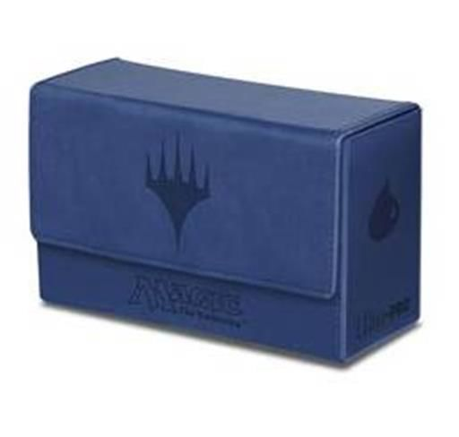 DECK BOX MAGIC DUAL FLIP TOP - MANA AZUL TACTO PIEL