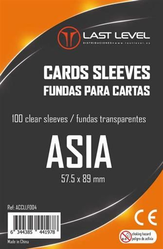 FUNDAS LAST LEVEL ASIA 57,5MM X 89MM (100)