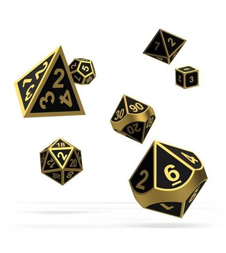 OAKIE DOAKIE DADOS RPG SET DE 7 METAL ALCHEMY GOLD