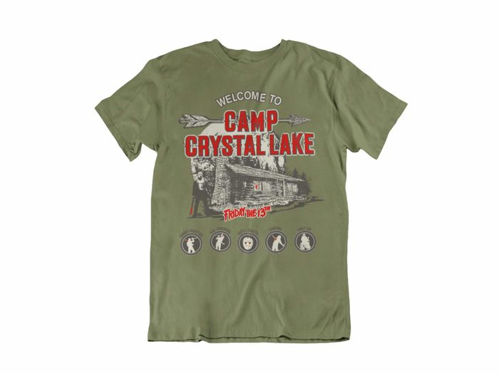 CAMISETA WELCOME TO CAMP CRYSTAL LAKE UNISEX TALLA S