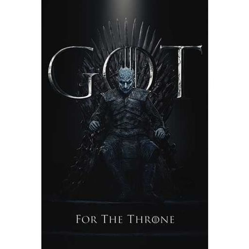 POSTER JUEGO DE TRONOS THE NIGHT KING FOR THE THRONE 61 X 91 CM