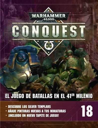 WARHAMMER 40000 CONQUEST COLECCION OFICIAL #018.RAKARTH FLESH+MEPHISTON RED