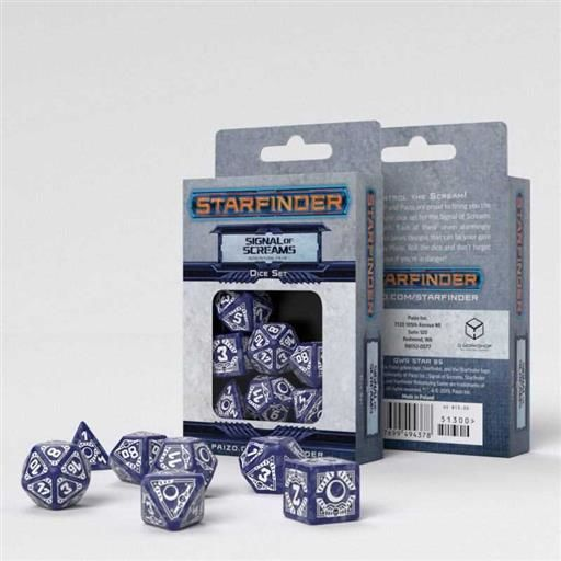 DADOS Q-WORKSHOP SET DE 7 STARFINDER SIGNAL OF SCREAMS