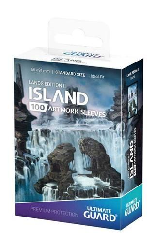 ULTIMATE GUARD PRINTED SLEEVES ESTANDAR LANDS EDITION II ISLA (100)