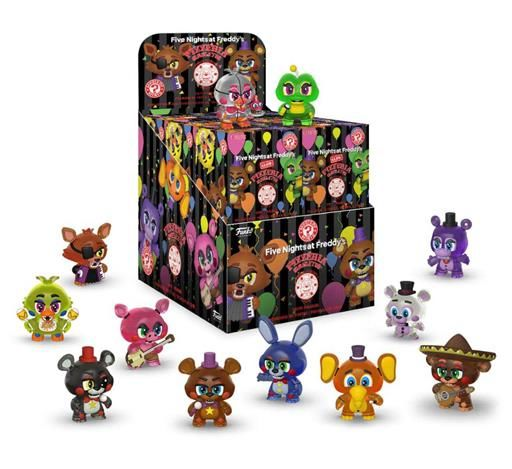 FIVE NIGHTS AT FREDDY S PIZZA SIMULATOR MINIFIGURA MYSTERY MINI 6CM BRILLA