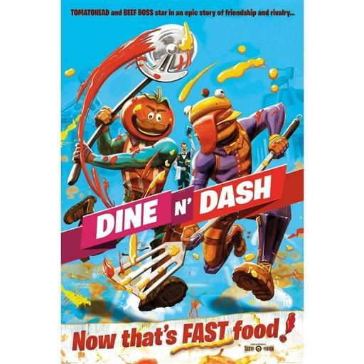 POSTER FORTNITE DINE AND DASH 61 X 91 CM