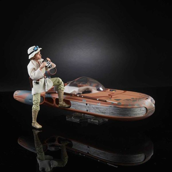 LUKE SKYWALKER & LANDSPEEDER E4 FIGURA 25 CM STAR WARS THE BLACK SERIES