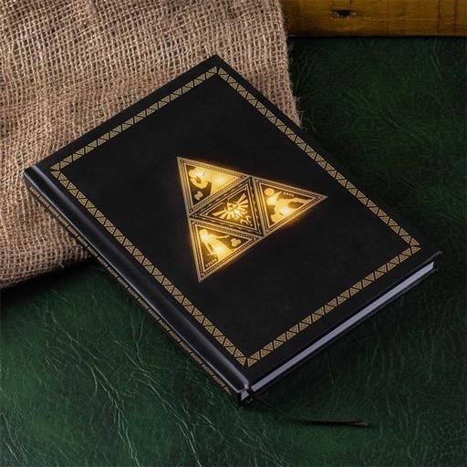 THE LEGEND OF ZELDA LIBRETA CON LUZ TRIFORCE