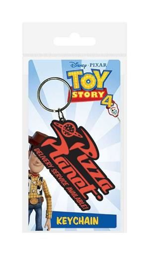 TOY STORY 4 LLAVERO CAUCHO 6 CM PIZZA PLANET