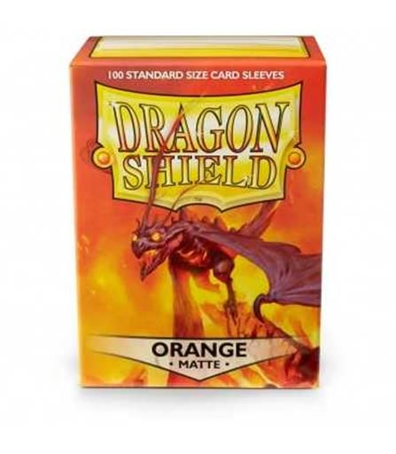 FUNDAS CARTAS DRAGON SHIELD ESTANDAR MATTE-ORANGE (100)