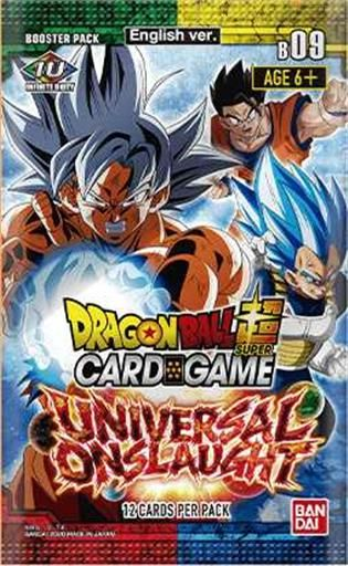 DRAGON BALL TCG BOOSTER 09 UNIVERSAL ONSLAUGHT SOBRE