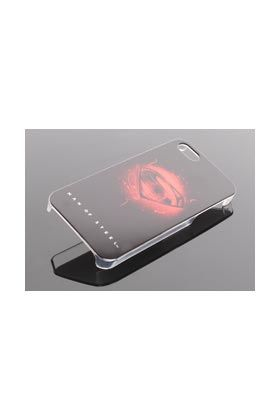 FUNDA PVC LOGO MAN OF STEEL NEGRO LOGO IPHONE 5G MAN OF STEEL