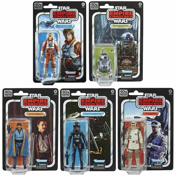 SURTIDO 40TH ANNIVERSARY E5 5 FIGURAS 15 CM STAR WARS BLACK SERIES E75495L01