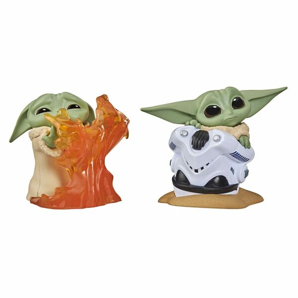 PACK THE CHILD BABY YODA FUEGO+CASCO SET 2 FIGURAS 5,5CM STAR WARS THE BOUNTY CO